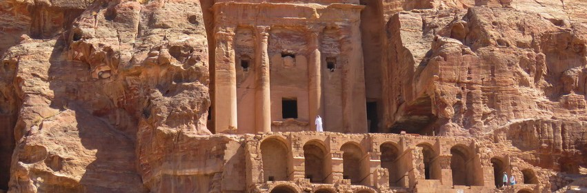 Man at Monastery inside Petra