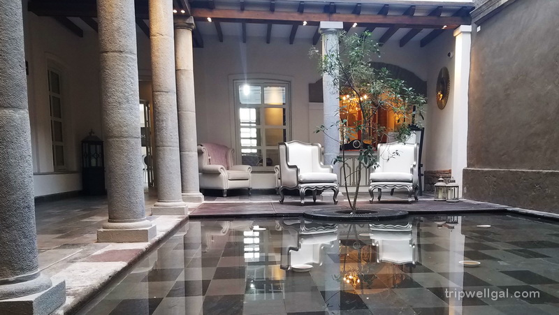 Central lobby pool in the Illa Experience - a luxury hotel review