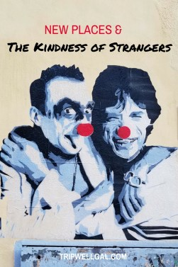 Mural in Rome and the kindness of strangers