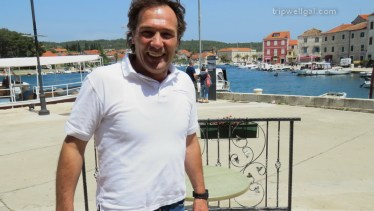Croatian boat captain shows me a historic writer's home