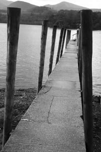 Jetty-into-Derwent-Water-Keswick-Lake-District-Cumbria-17th-Oct-2014-grey-pic#2