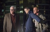 """DC's Legends of Tomorrow -- """"Pilot, Part 1"""" Pictured (L-R): Victor Garber as Professor Martin Stein, Wentworth Miller as Leonard Snart/Captain Cold and Dominic Purcell as Mick Rory/Heatwave -- Photo: Jeff Weddell/The CW © 2015 The CW Network, LLC. All Rights Reserved."""