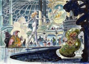 Milo Manara's Sketches For The Barbarella That Never Was