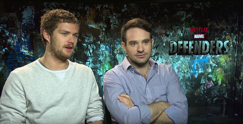 Finn Jones and Charlie Cox Talks Netflix's The Defenders