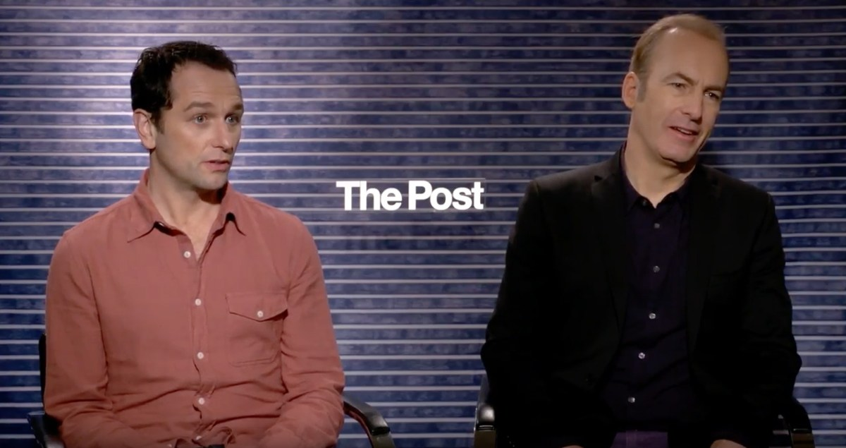 Bob Odenkirk And Matthew Rhys Talk Steven Spielberg's The Post