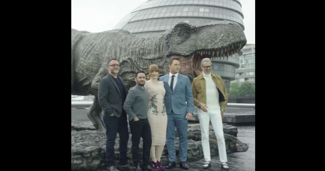 Watch The Cast Of Jurassic World: Fallen Kingdom In London
