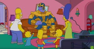Thanos Visits The Simpsons