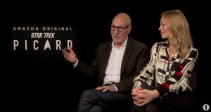 Patrick Stewart Talks Jeri Ryan's Star Trek Uniform And More