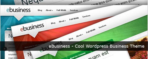 eBusiness – Cool WordPress Corporate Theme