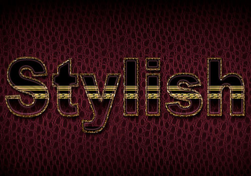 Leather text effect