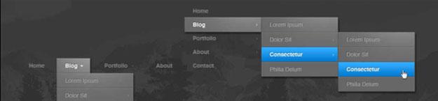 55+ Premium CSS Menu and Navigation Solutions