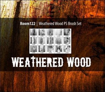 weathered-wood-photoshop-brush-sets