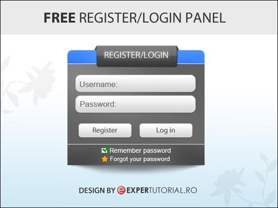 free-psd-register-login-form