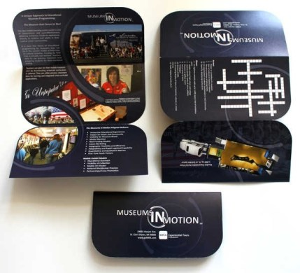 30 Creative Die Cut Brochure Designs for Inspiration MRA Museums in Motion Tri fold