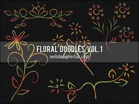 floral-doodles-brushes
