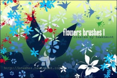 flowers-brushes