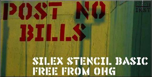 silex-stencil-font