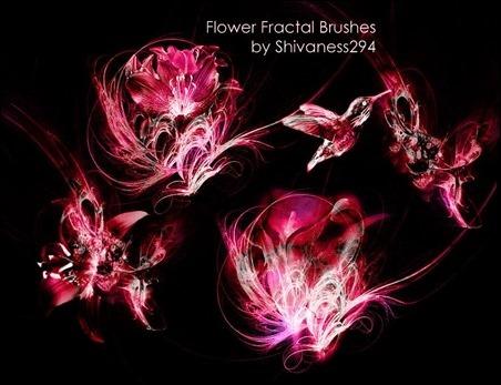 Flower-Fractal-Brushes