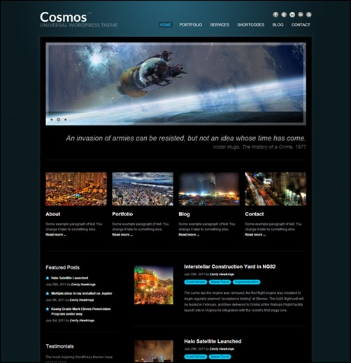 cosmos-creative-dark-wordpress-theme