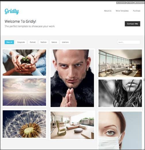 Gridly - Reponsive Portfolio Template