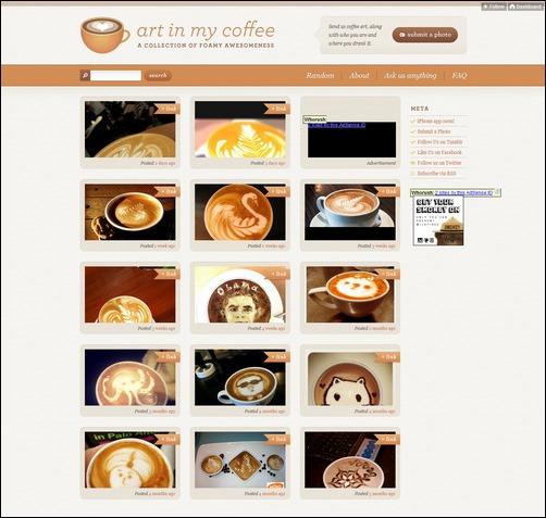 Art In My Coffee Creative Tumblr Blog Designs