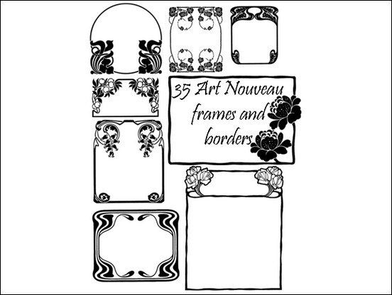 35-art-nouveau-frame-brushes