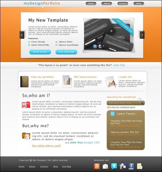 portfolio-template-ourtuts
