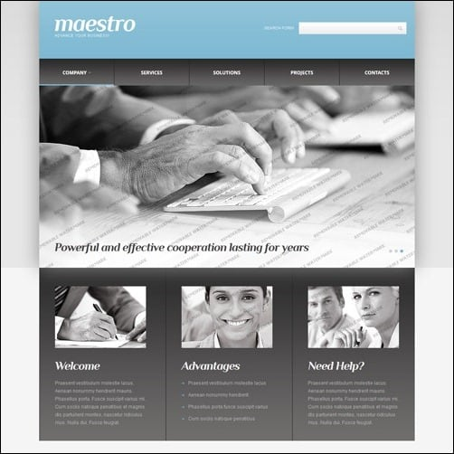 White & Grey Consulting business website template