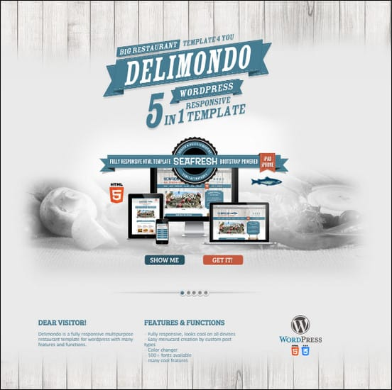 Delimondo is a powerful WordPress Template built for restaurants and food lovers