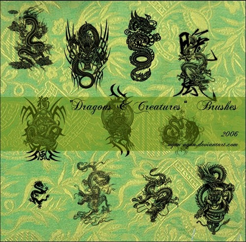 dragons-and-creatures-brushes