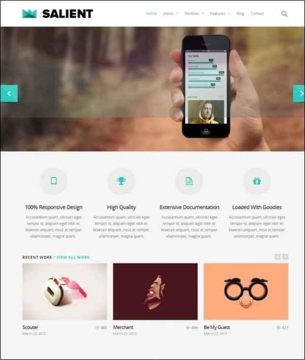 Salient – Responsive Portfolio & Blog Theme