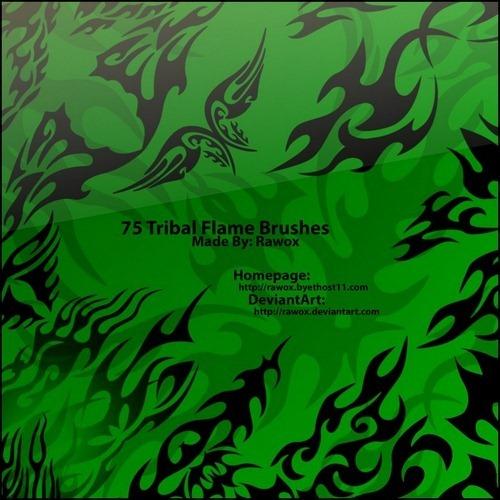 tribal-flame-brushes