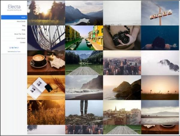 Electa Grid-based Portfolio Theme