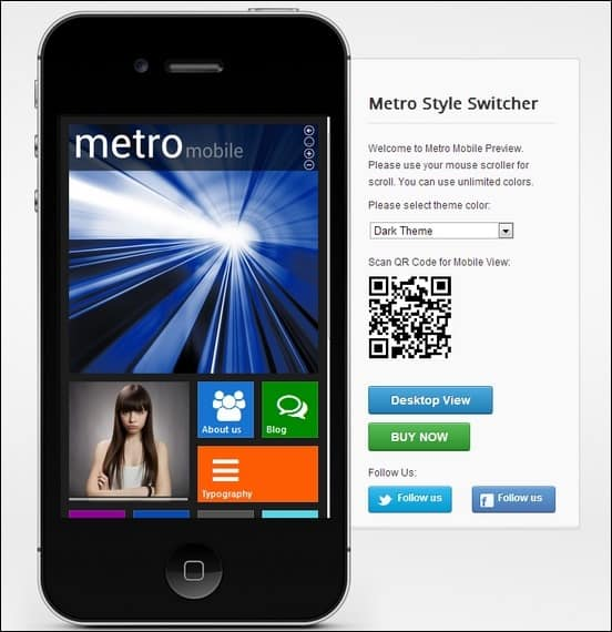metro mobile wordpress template is a cool metro inspired wordpress template