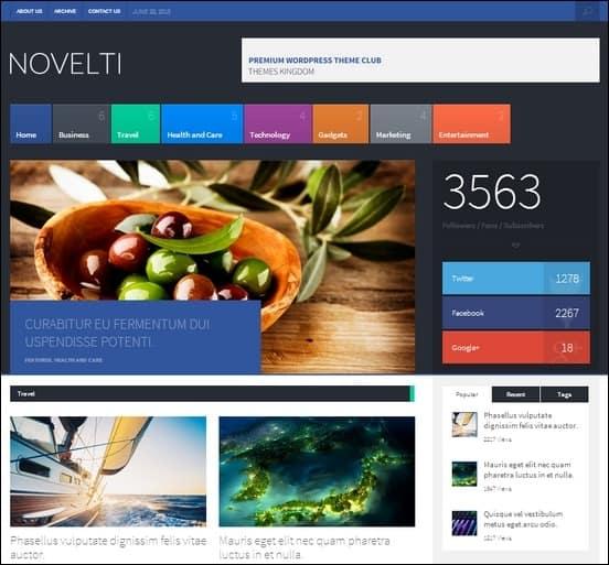 novelti is an accesible and flexible wordpress theme