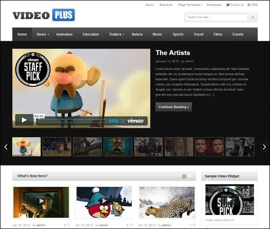 Video Plus theme for WordPress is a video magazine theme