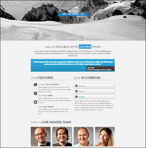 Clever Adobe Muse Template