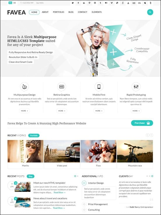 Favea - Multipurpose HTML5/CSS3 Template