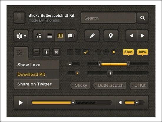 Sticky-ButterscotchUI-Kit