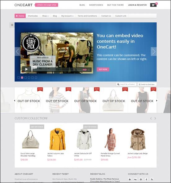 onecart-ajax-responsive-ecommerce-wordpress-theme