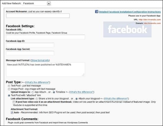 social-network-settings