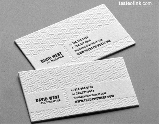 DavidWestPhotographyBusinessCard