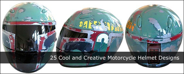 25 Cool and Creative Motorcycle Helmet Designs