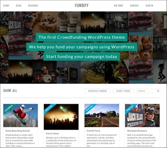 15+ Brilliant Crowdfunding WordPress Themes And Plugins