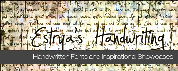 70+ Seriously Useful Handwritten Fonts and Showcases
