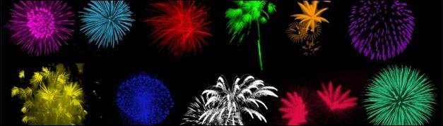 30 Brilliant Photoshop Fireworks Brushes