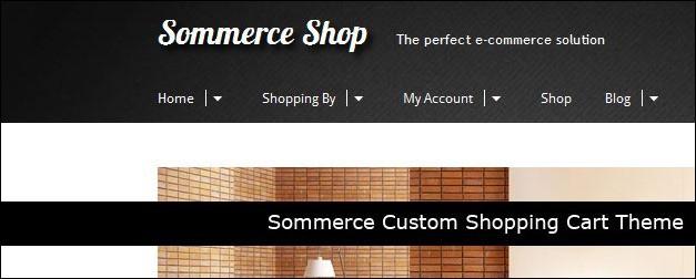 Sommerce Custom Shopping Cart Theme
