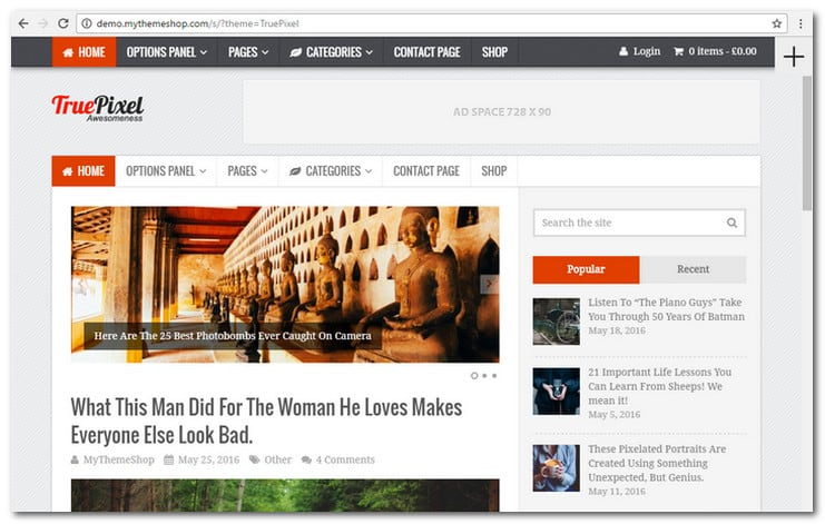 TruePixel WordPress Blog Theme