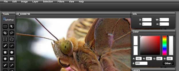 splachup, online image editors