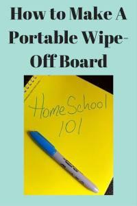 A Portable Wipe-Off Board
